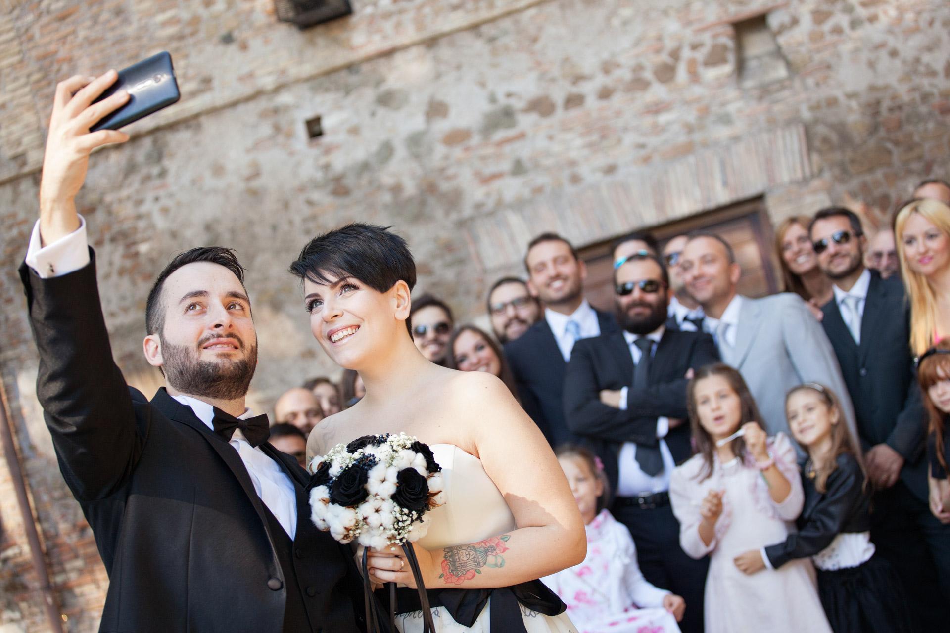 il selfie degli sposi
