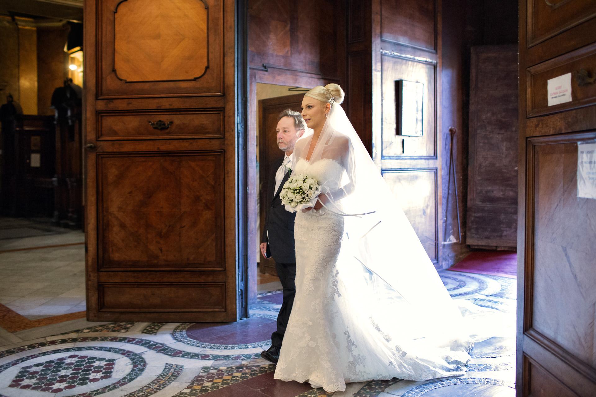 l'ingresso della sposa