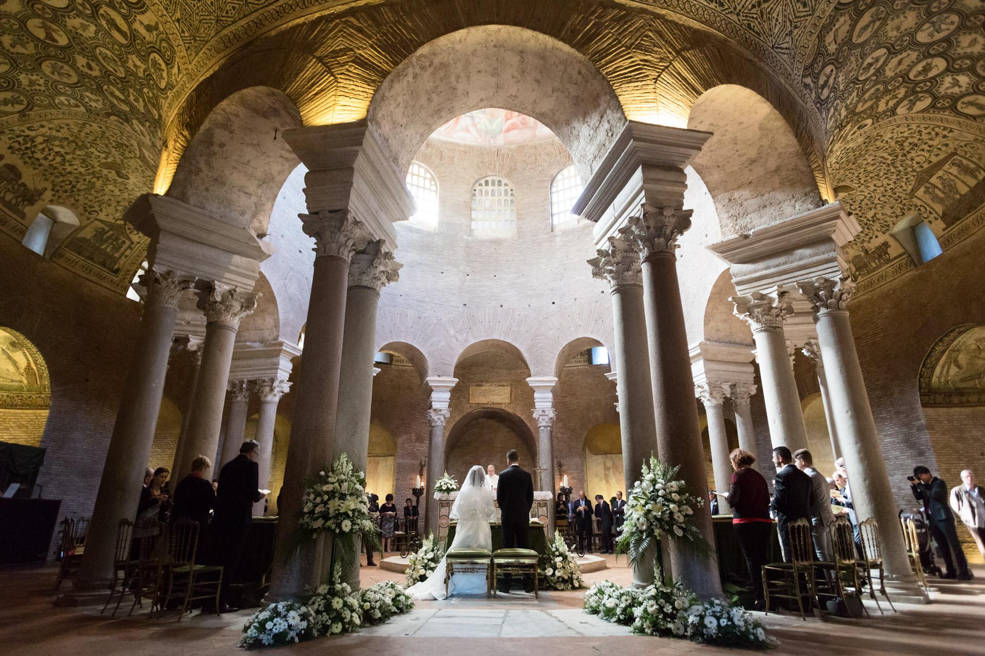 matrimonio al Mausoleo di Santa Costanza