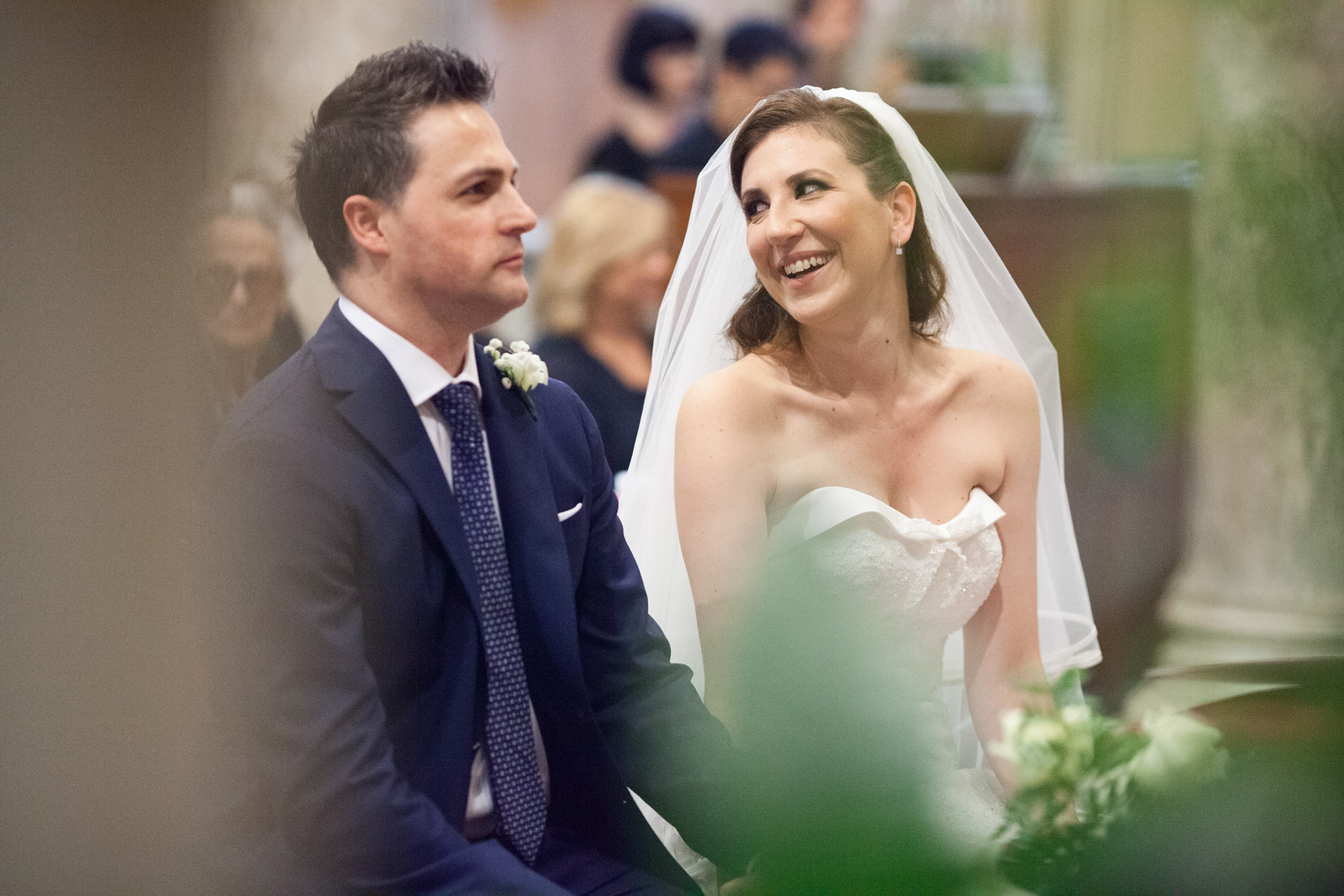 gli sposi durante la cerimonia