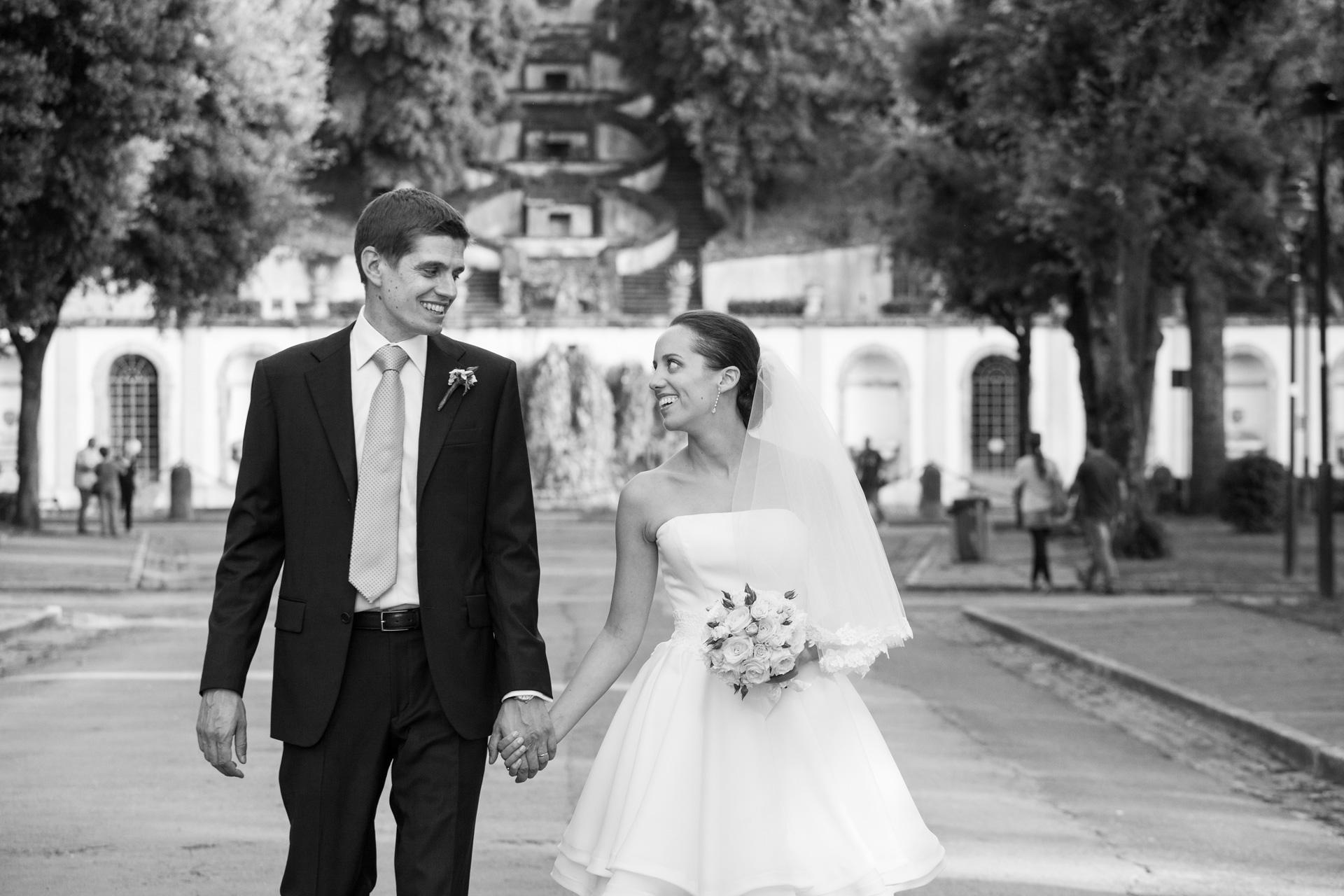 passeggiata degli sposi a Frascati