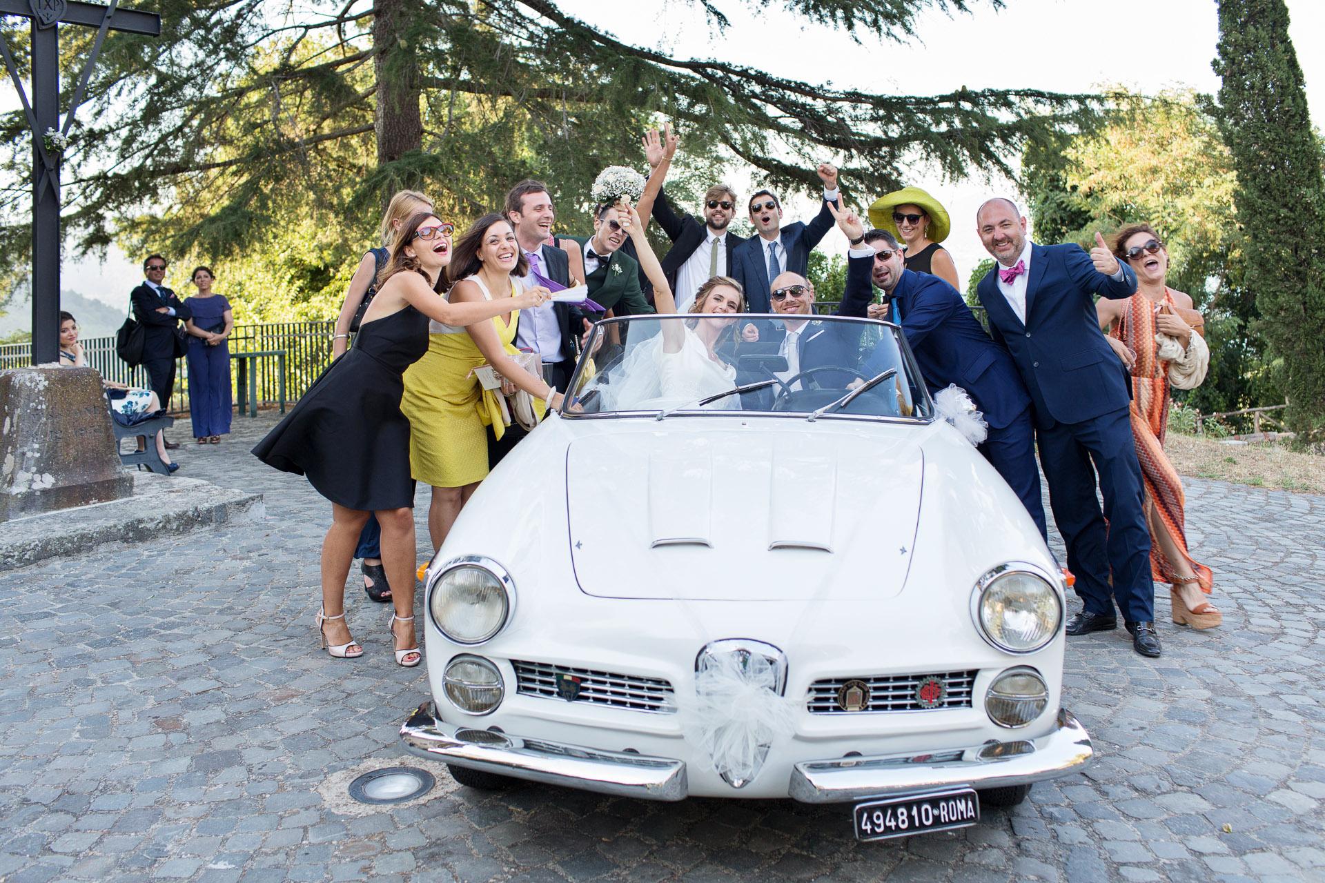 auto d'epoca al matrimonio