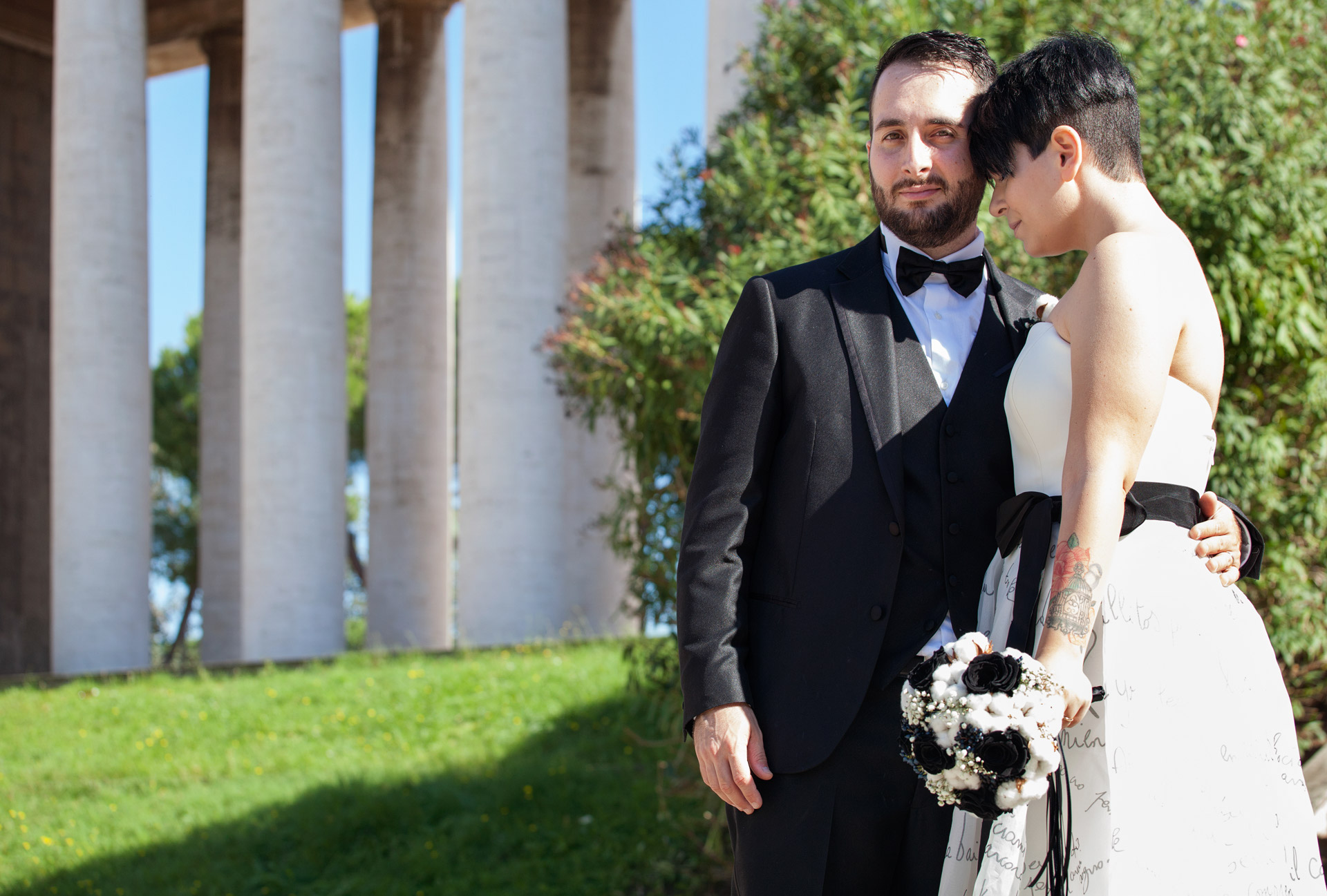shooting di matrimonio all'eur