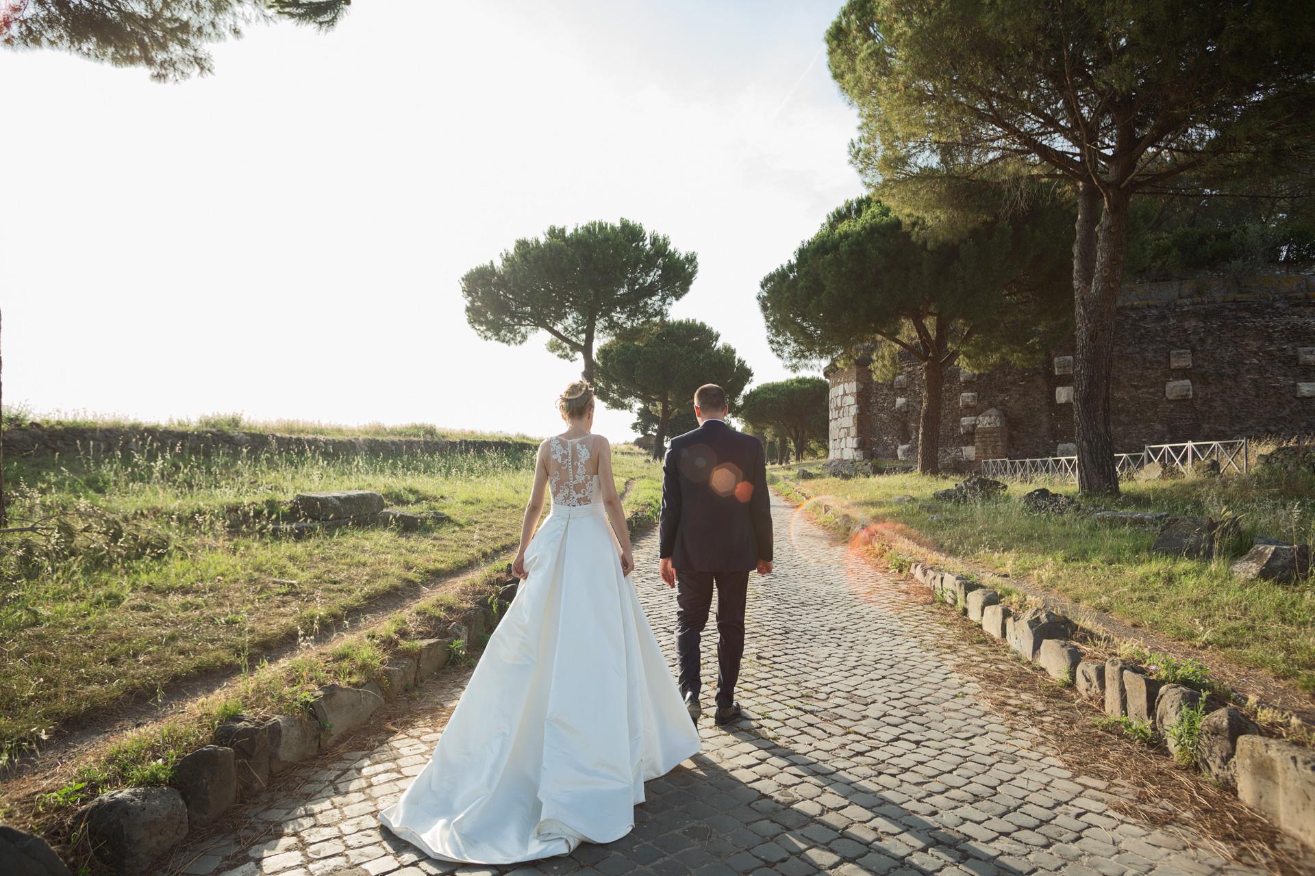 gli sposi sull'Appia Antica