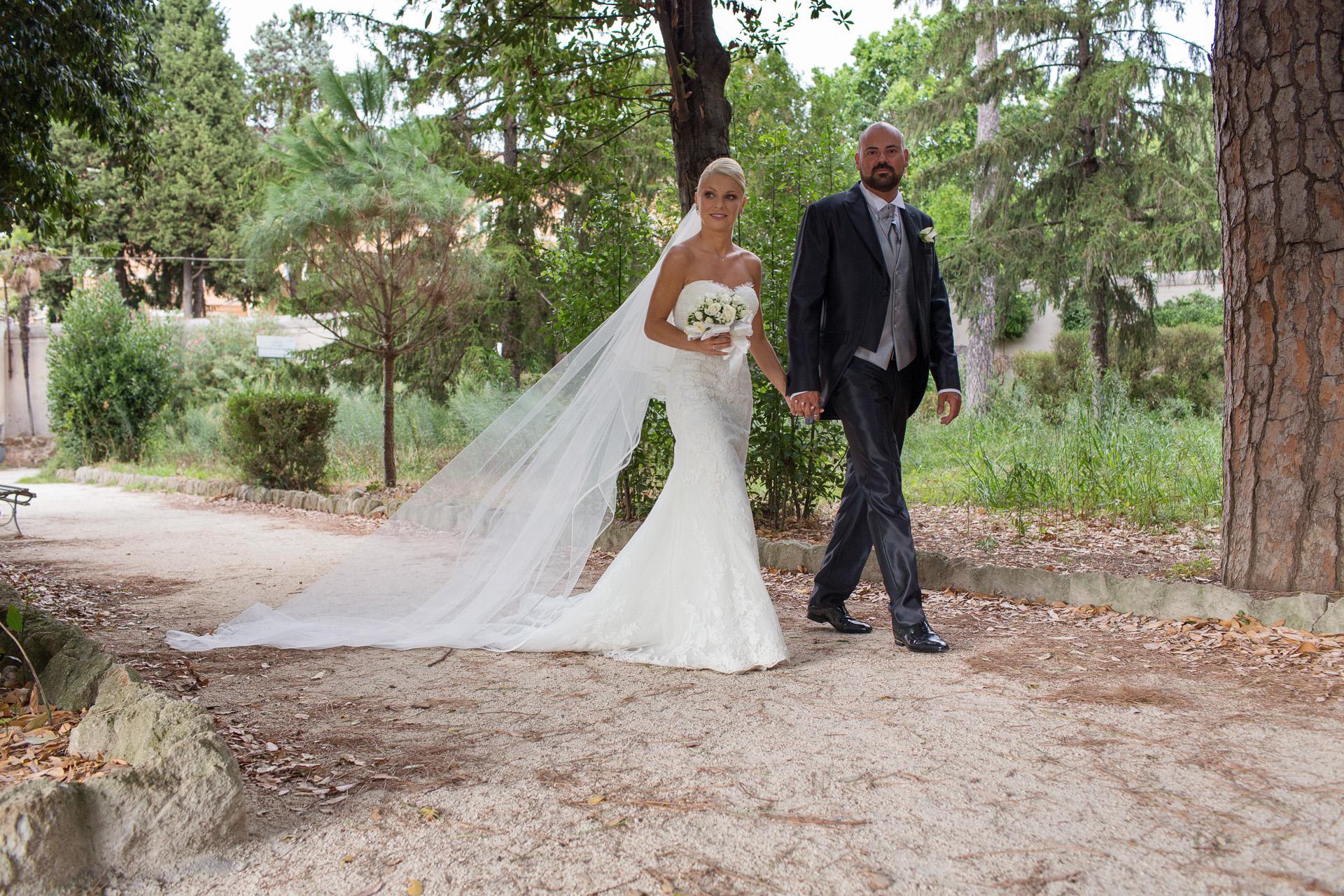 sposi in villa