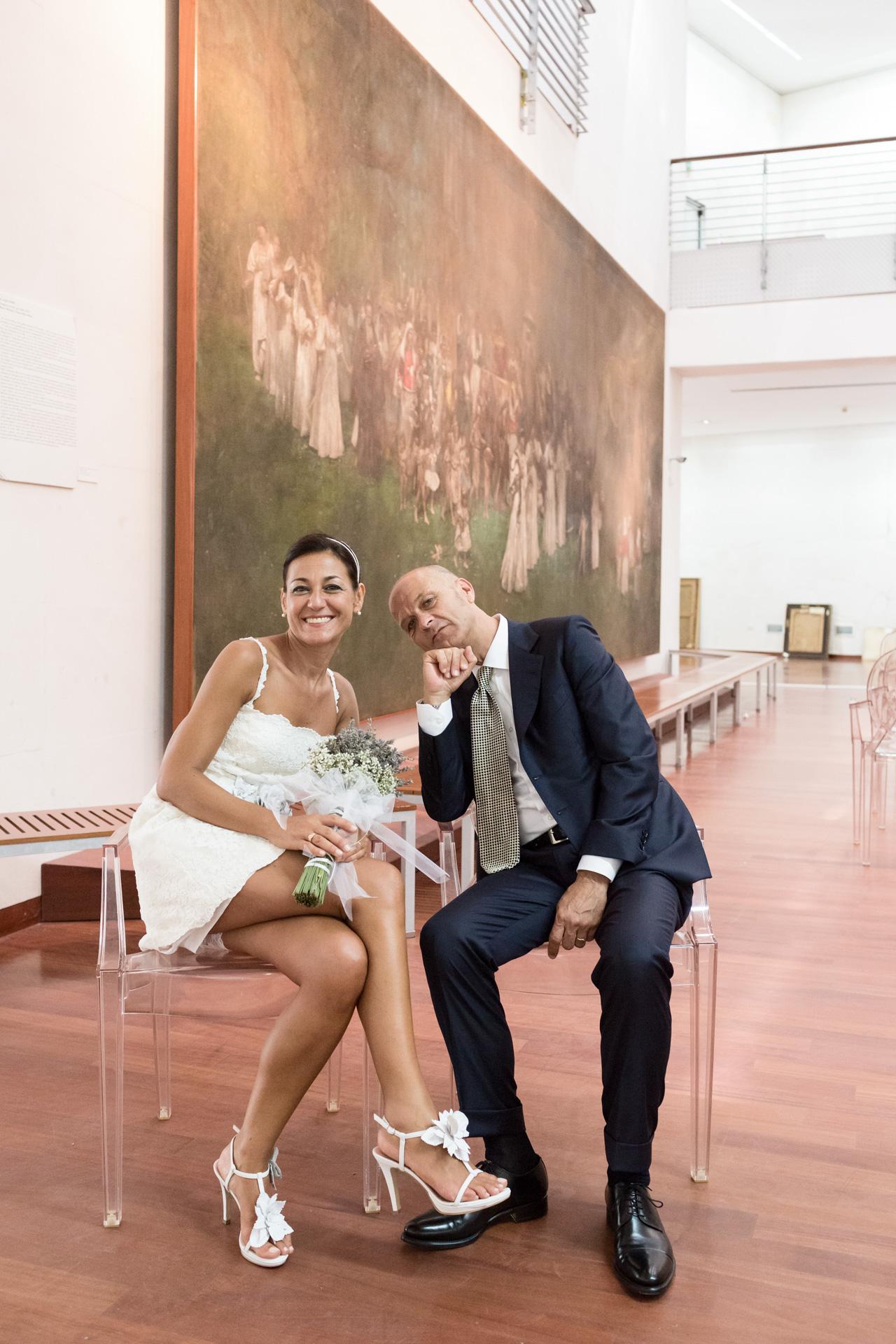 gli sposi nel Museo Michetti