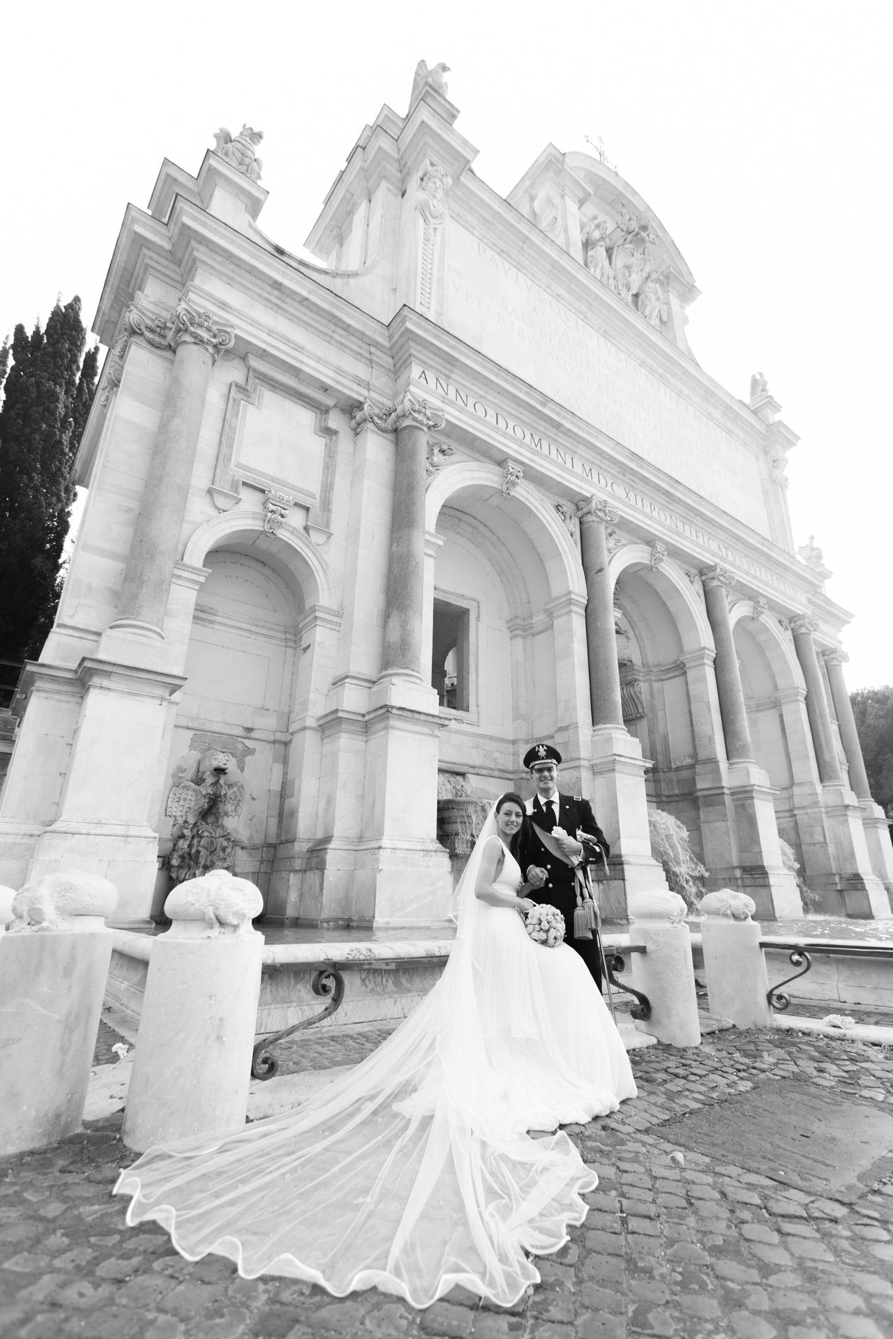 sposi al Fontanone, Fontana dell'Acqua Paola