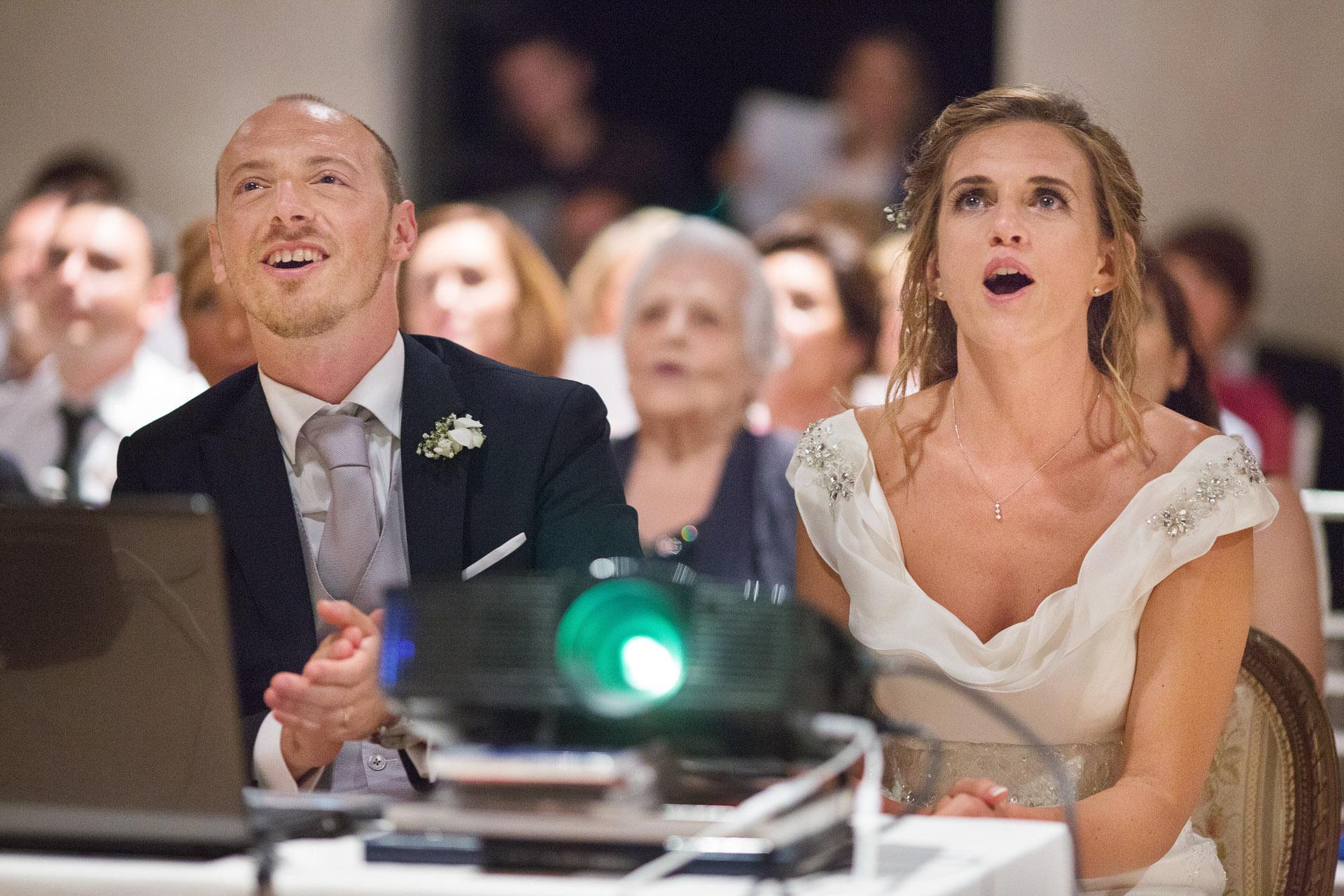 proiezione durante il matrimonio
