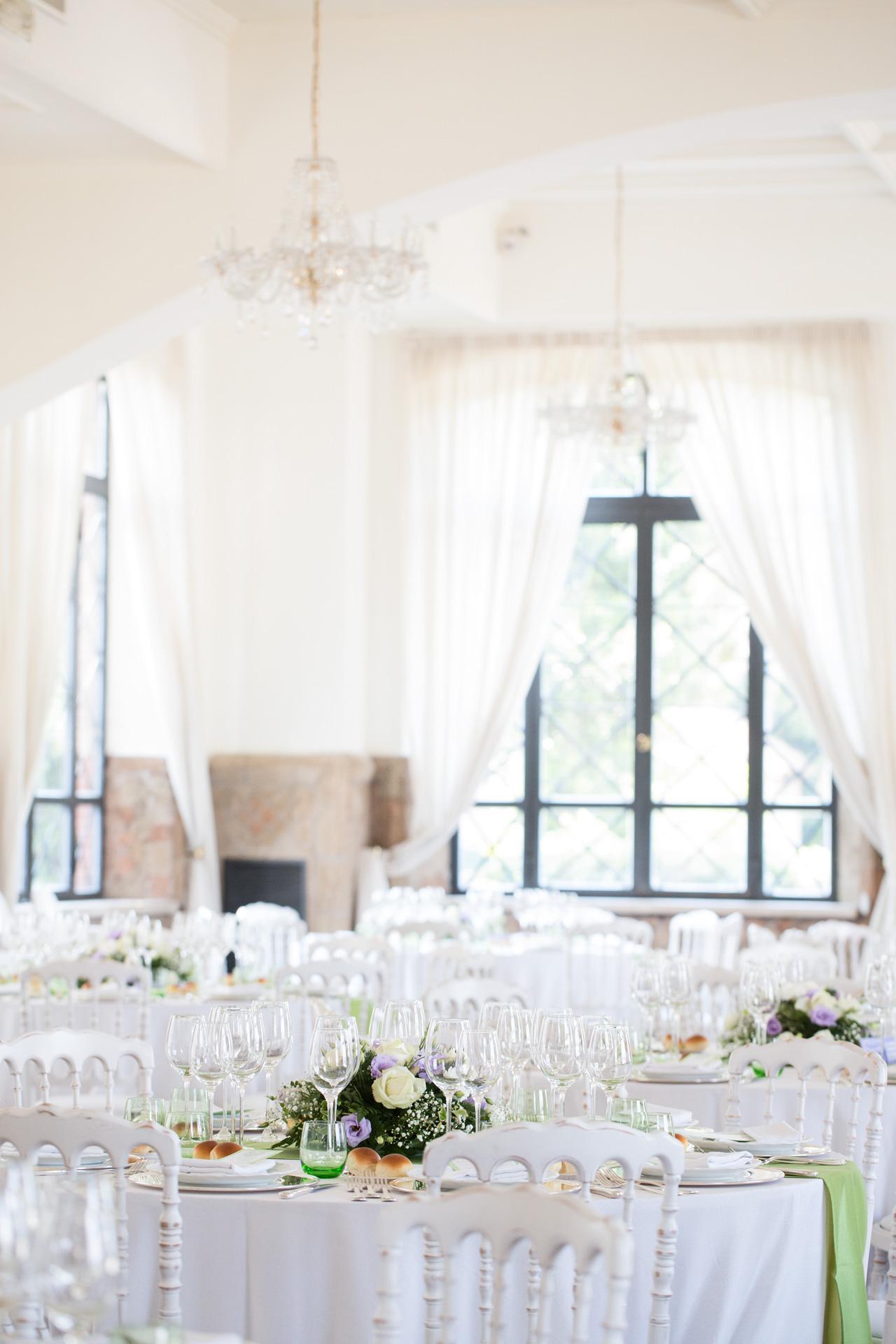 la sala della location di matrimoni La Villa dei Cesari