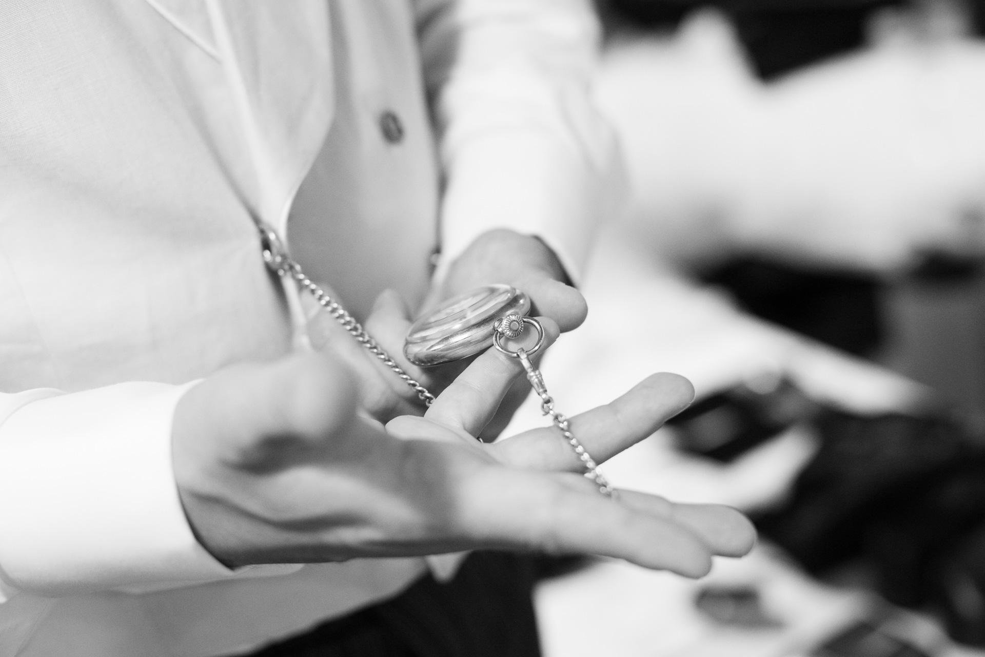 orologio da taschino dello sposo