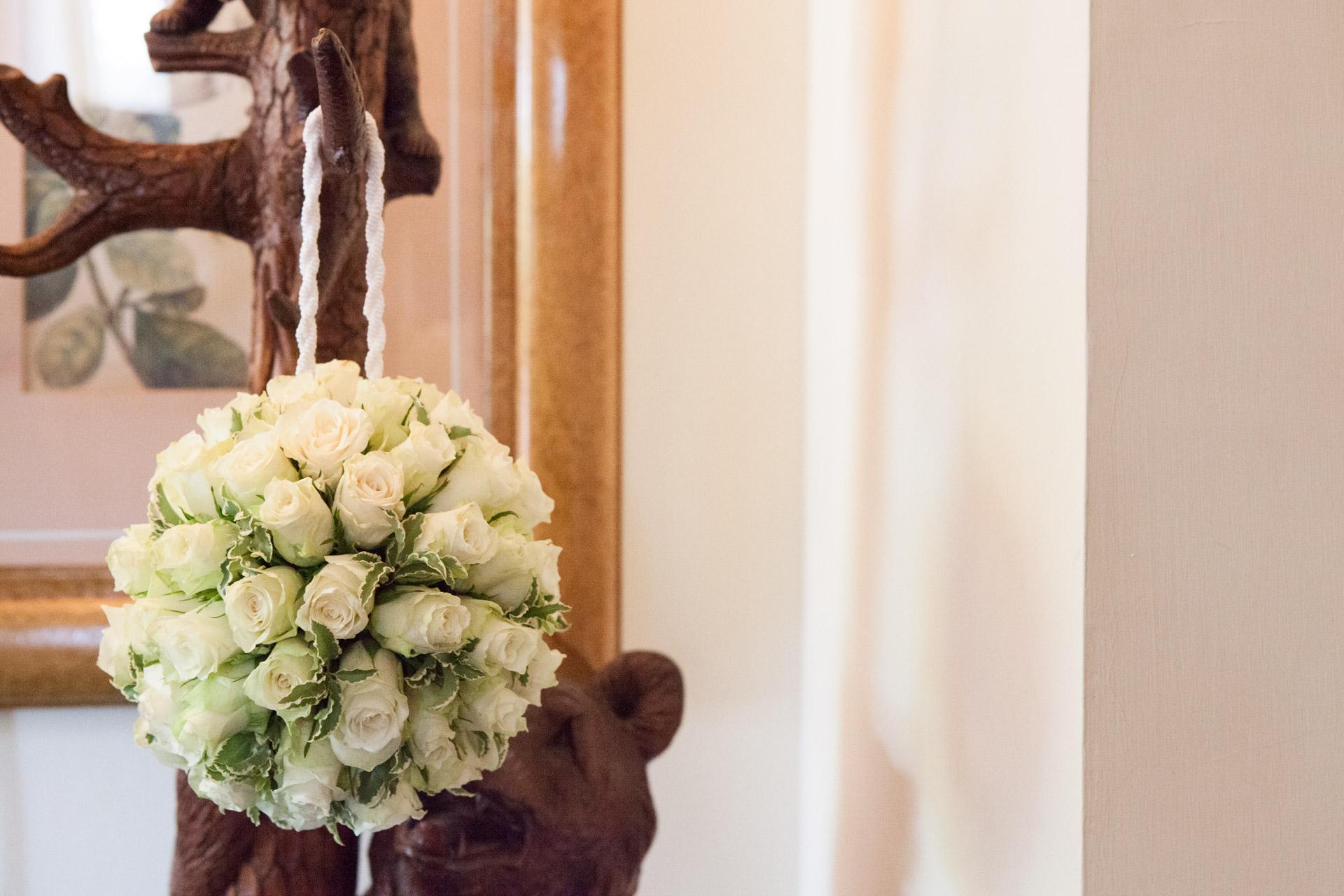 bouquet a borsetta della sposa