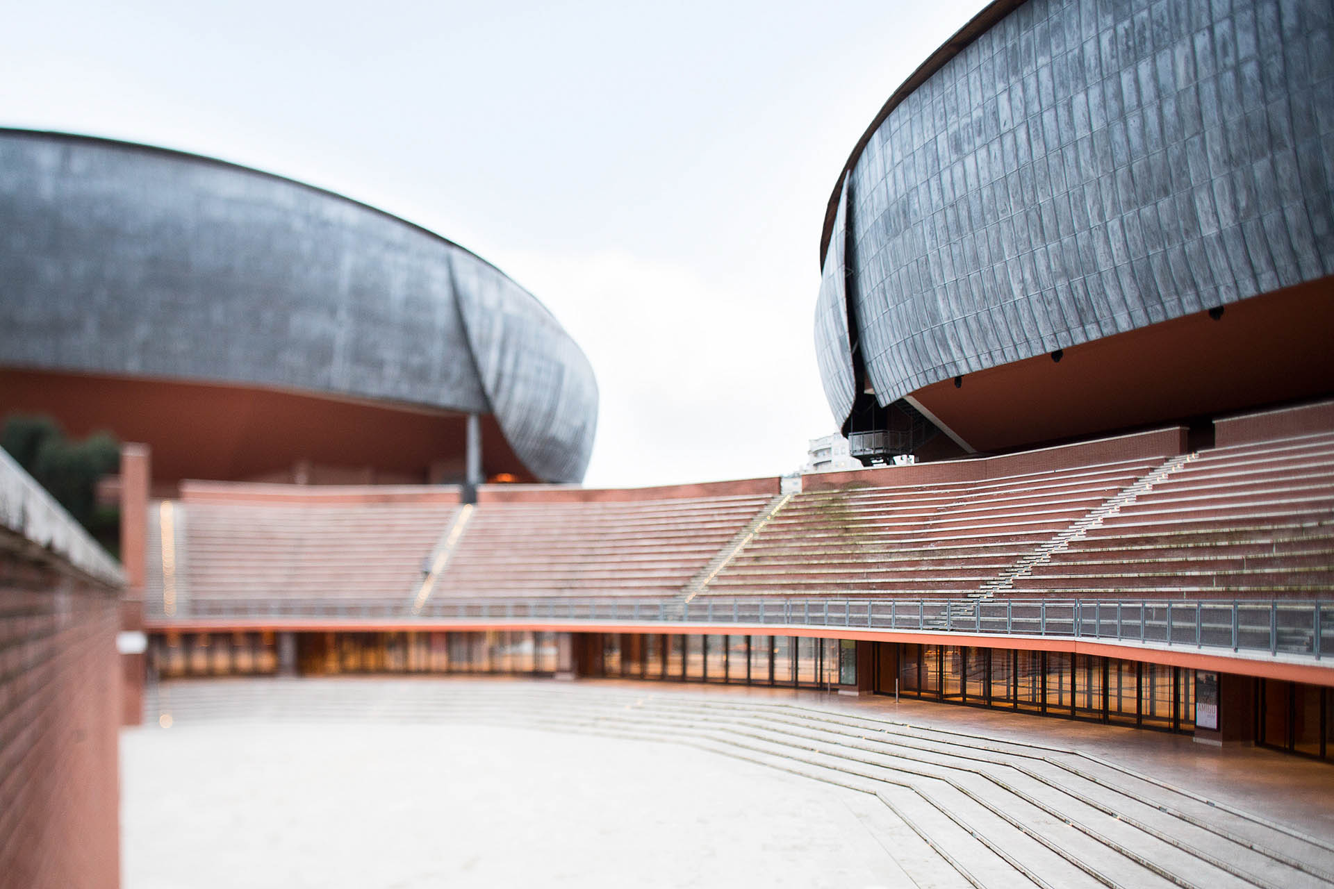 Cityscape: l'Auditorium Parco della Musica a Roma. copyright © _nf