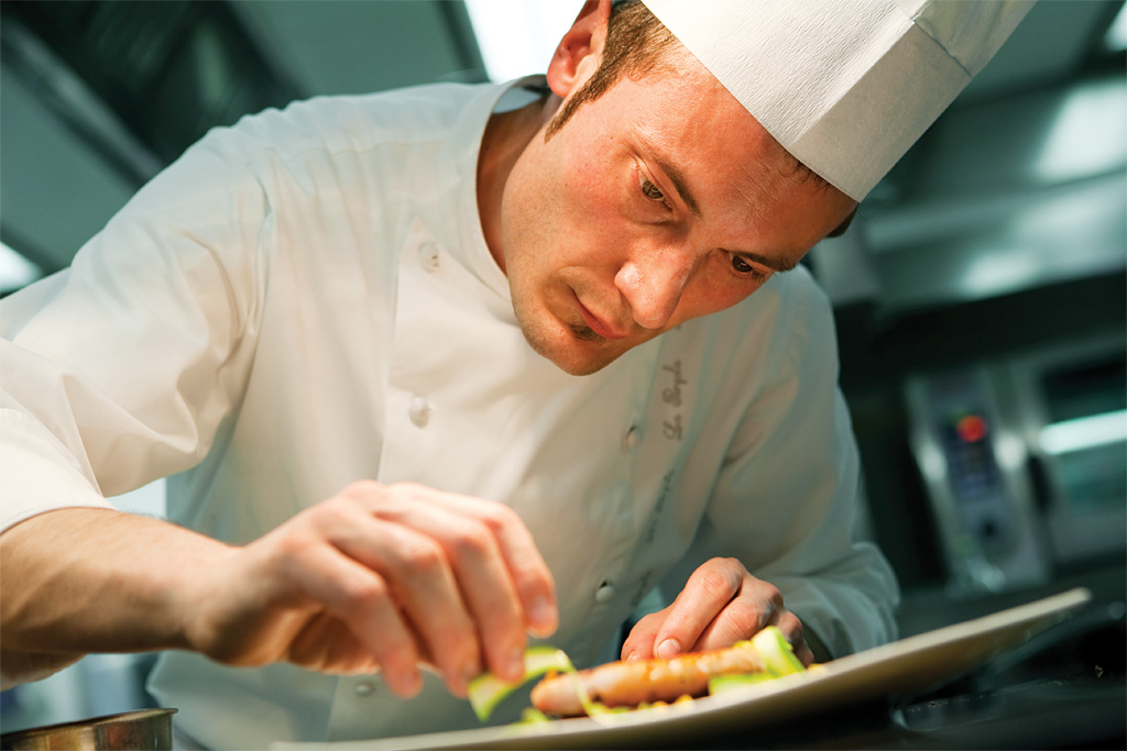 Editorial reportage: Heinz Beck and his sous chef. copyright © _nf