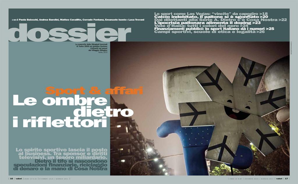 Reportage: architectures of Torino 2006 on the magazine Valori. copyright © _nf