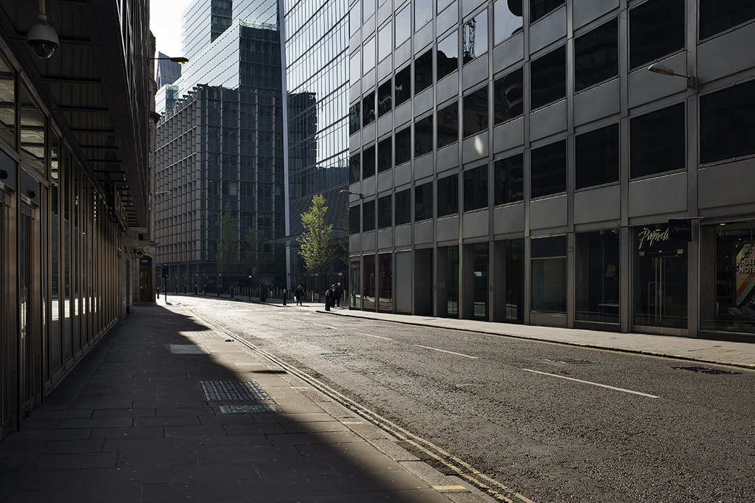 Fenchurch street during May Day Bank Holiday