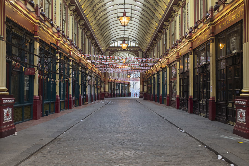 Leadenhall Market during May Day Bank Holiday
