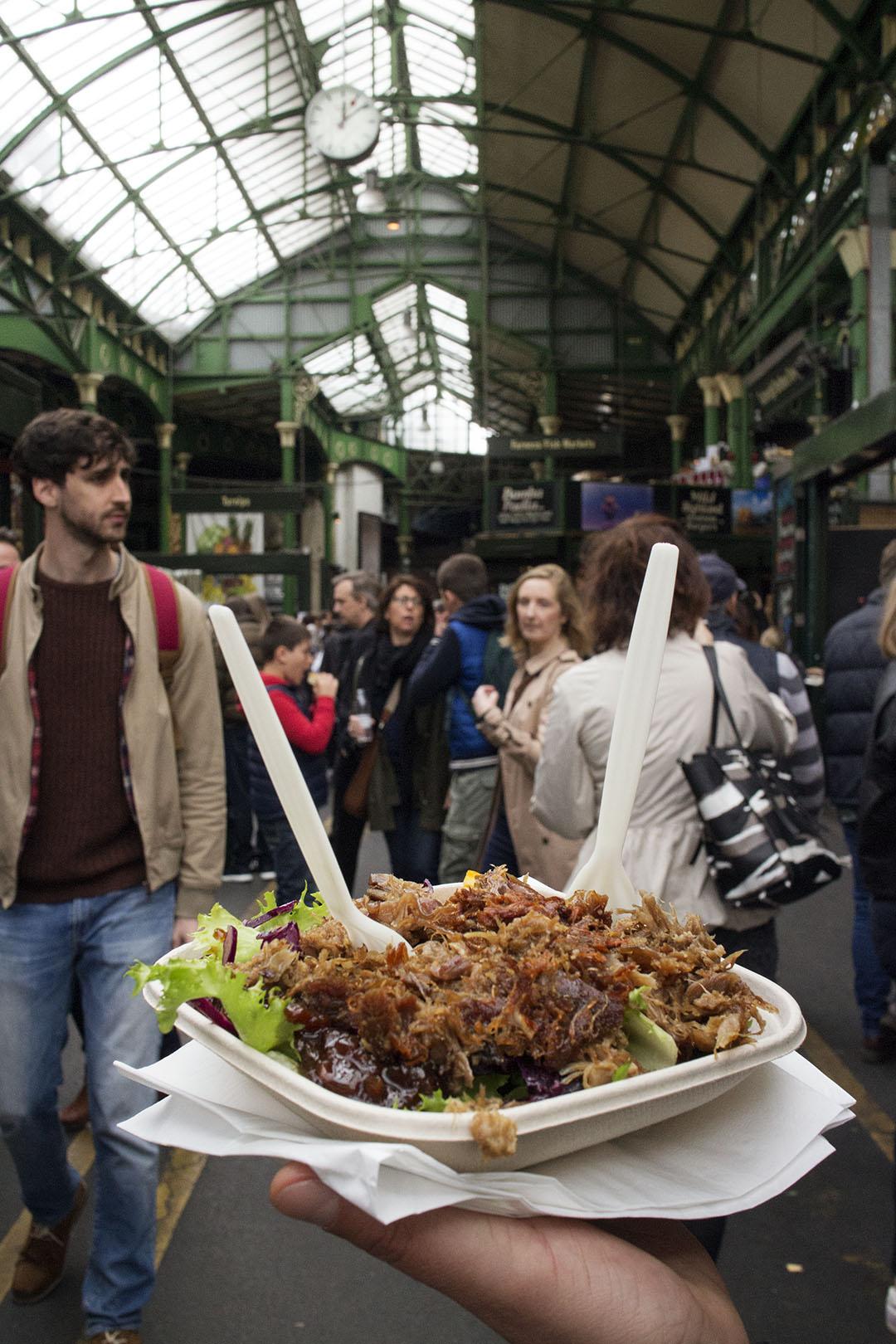 Duck Confit, Le Marché du Quartier street food at London Borough Market