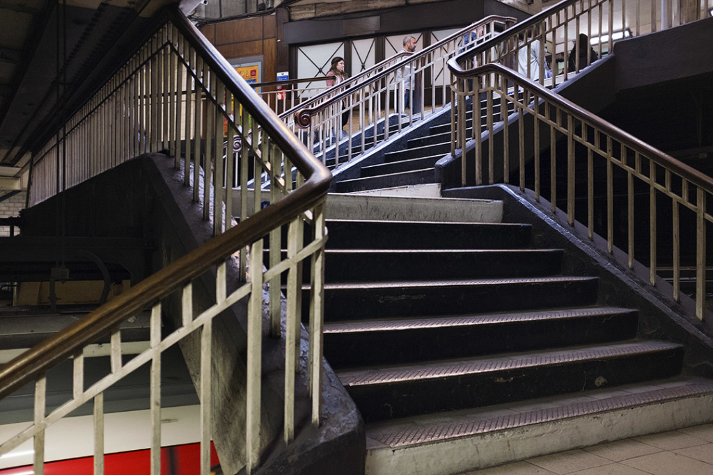 Stairs in a London underground station