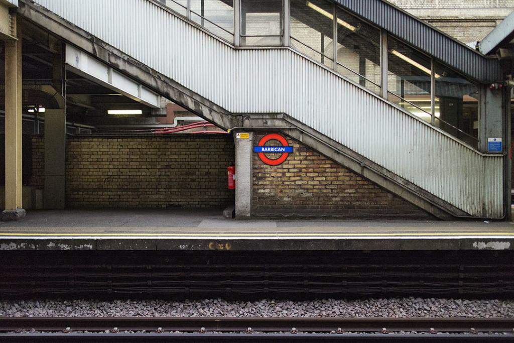 Barbican underground station in London