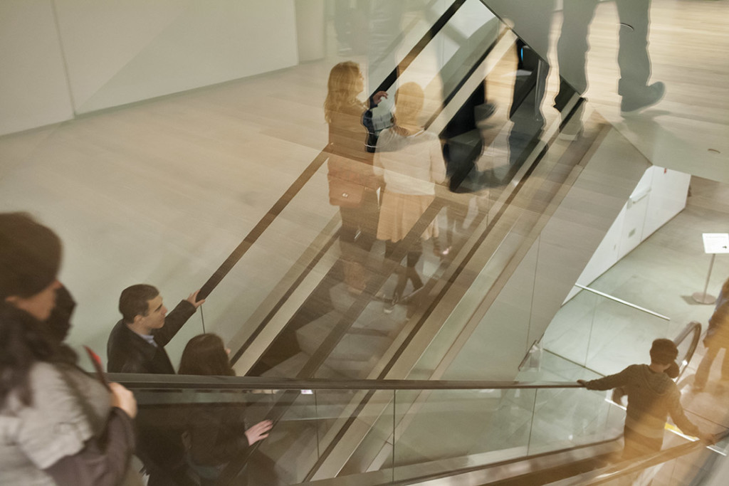 _nf - New York MoMA interior escalator