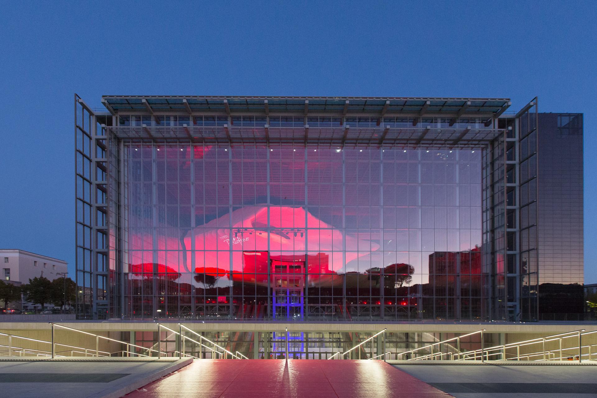La Nuvola di Fuksas ospita l'evento di presentazione della Ferrari Portofino