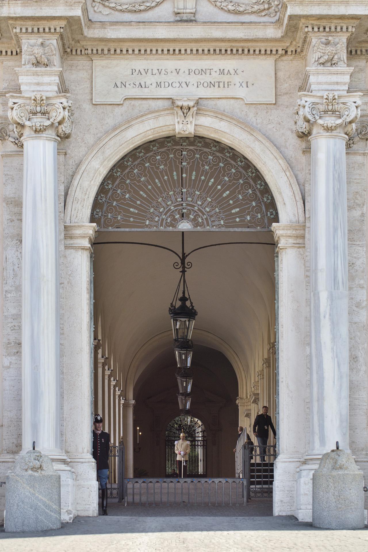 _nf - Roma Quirinale, l'ingresso